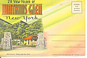 Watkins Glen, New York Souvenir Folder