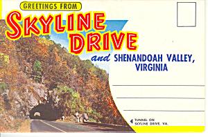 Skyline Drive Shenandoah Valley, VA Souvenir Folder sf0338 (Image1)