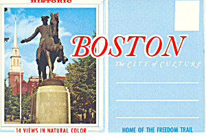 Historic Boston Massachusetts Souvenir Folder sf0356 (Image1)