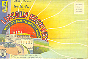 Lincoln Highway,pittsburgh To Gettysburg Pennsylvania Sf0366