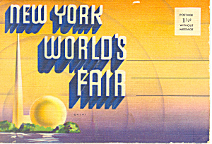 1939 New York World s Fair Souvenir Folder sf0370 (Image1)