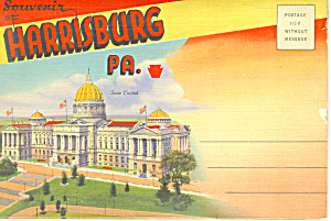 Harrisburg Pennsylvania Souvenir Folder Sf0371