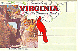 Virginia,the Old Dominian State Souvenir Folder Sf0374
