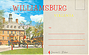 Williamsburg,souvenir Folder Virginia Sf0377