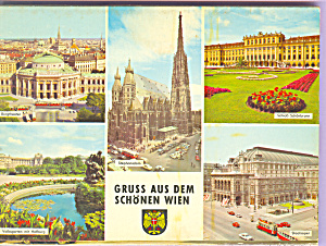 Greetings From Beautiful Vienna Austria Souvenir Folder Sf0417