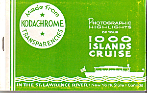 Highlights Of Your 1000 Island Cruise Souvenir Folder Sf0430