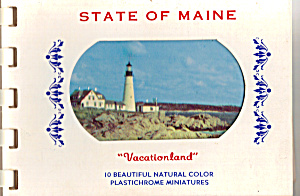 State Of Maine Souvenir Folder Sf0441