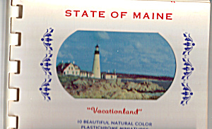 State Of Maine Souvenir Folder Sf0445