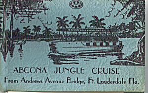 Abenoa Jungle Cruise Florida Souvenir Folder Sf0446