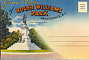 Roger Williams Park Providence Ri Souvenir Folder Sf0448