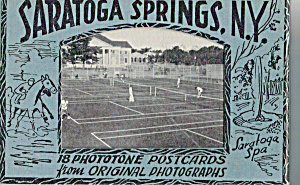Saratoga Springs,new York Souvenir Folder Sf0450