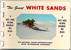 White Sands National Monument Souvenir Folder sf0455 (Image1)
