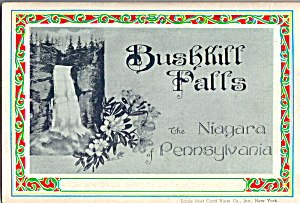 Bushkill Falls The Niagara Of Pennsylvania Souvenir Folder Sf0456
