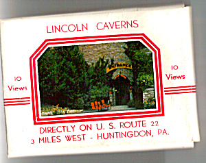 Lincoln Caverns Pennsylvania Souvenir Folder Sf0459