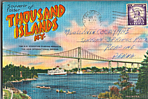 Thousand Islands New York Souvenir Folder Sf0461