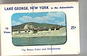 Lake George Ny In Adirondacks Souvenir Folder Sf0464