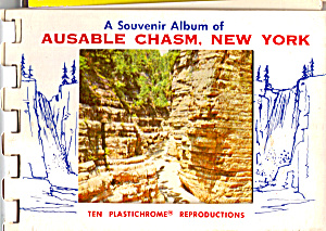 Ausable Chasm, New York Souvenir Folder Sf0468