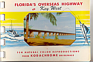 Floridas Overseas Highway To Key West Souvenir Folder Sf0470