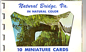 Natural Bridge, Virginia Souvenir Folder Sf0473