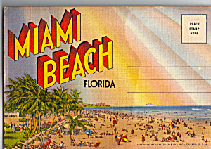 Miami Beach, Florida Souvenir Folder Sf0476