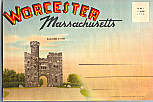 Worcester, Massachusetts Souvenir Folder Sf0482