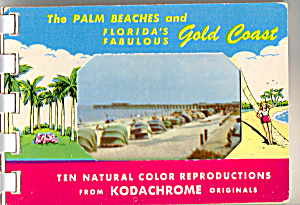 Palm Beaches, Florida Souvenir Folder Sf0483