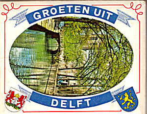 Views Of Delft, Netherlands Souvenir Folder Sf0501
