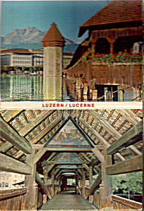 Views Of Lucerne,switzerland Souvenir Folder Sf0508