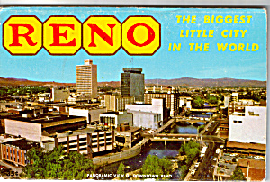 Reno Nevada Souvenir Folder Sf0524