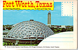 Fort Worth, Texas Souvenir Folder Sf0525