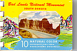 Bad Lands National Monument SD Souvenir Folder  sf0550 (Image1)