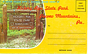 Hickory Run State Park Pictorial View Folder