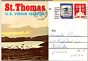 St. Thomas, Us Virgin Islands Pictorial View Folder