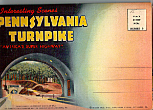 Pennsylvania Turnpike Scenes Souvenir Folder Sf0559