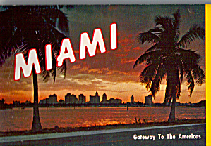 Miami Florida Gateway To Americas Souvenir Folder Sf0562