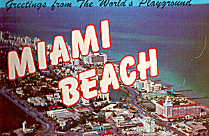Miami Beach Worlds Playground Souvenir Folder Sf0563