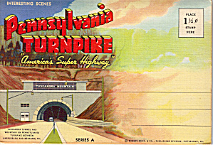 Pennsylvania Turnpike Scenes Souvenir Folder Sf0564