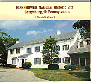 Eisenhower National Historic Site Pa Postcard Folder Sf0567