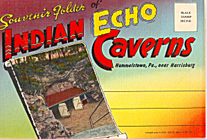 Indian Echo Caverns, Pennsylvania, Souvenir Folder (Image1)