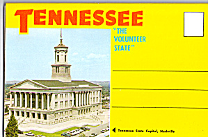 Tennessee,the Volunter State Souvenir Folder Sf0594
