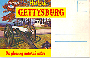 Gettysburg Military Park Souvenir Folder sf0597 (Image1)