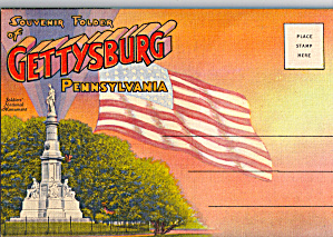 Gettysburg Military Park Souvenir Folder sf0598 (Image1)