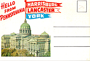 Harrisburg,york,lancaster Pa Souvenir Folder Sf0603
