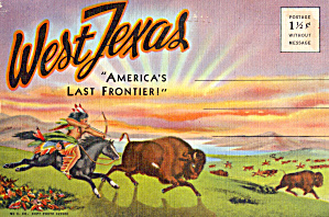 West Texas Americas Last Frontier Souvenir Folder Sf0607