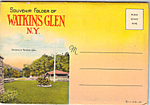 Watkins Glen New York Souvenir Folder Sf0618