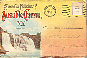 Ausable Chasm New York Souvenir Folder Sf0619