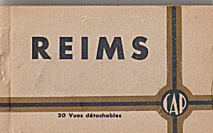Reims France Postcard Souvenir Folder Sf0637
