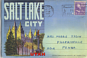 Salt Lake City, Utah, Souvenir Folder Sf0641