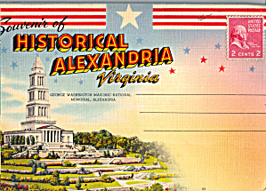 Historical Alexandria, Virginia Souvenir Folder Sf0642