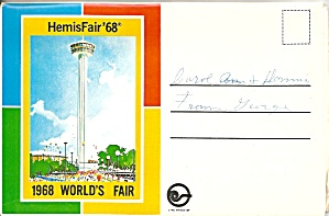Hemisfair 68 World S Fair San Antonio Souvenir Folder Sf0654